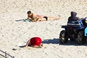 Jo Ranck head in sand