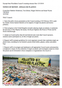 CASES: Woollahra Council bans single use plastic 20180307